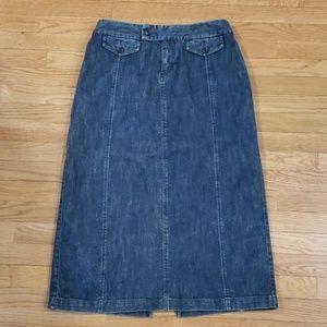 Eddie Bauer denim stretch maxi skirt